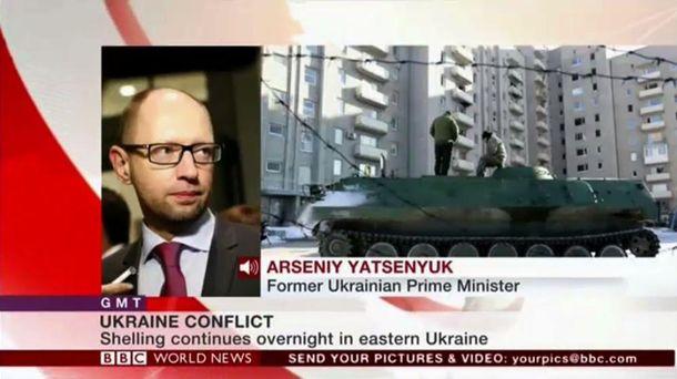 Арсений Яценюк на BBC