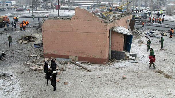 Розбомблений Донецьк
