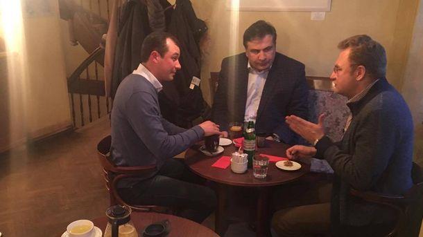 Гацько, Саакашвілі та Садовий у львівській кав'ярні