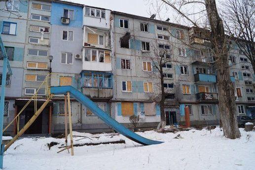За последние несколько дней Донецк подвергся разрушениям