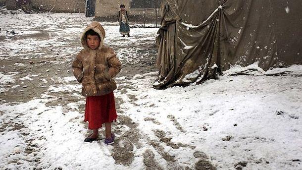 Снегопады в Афганистане