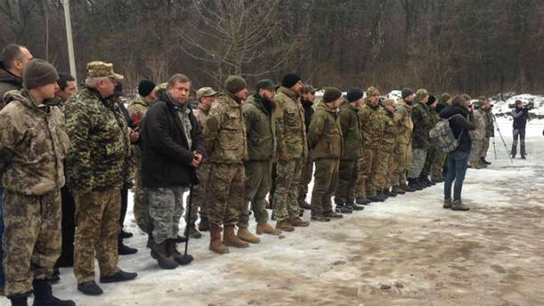 Новобранцы Украинской добровольческой армии