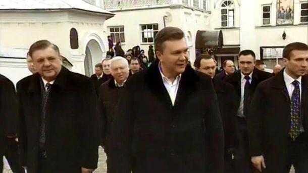Віктор Янукович і свита