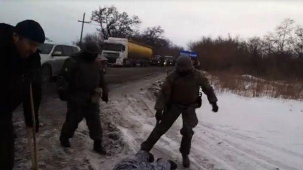 Полиция избила участников блокады