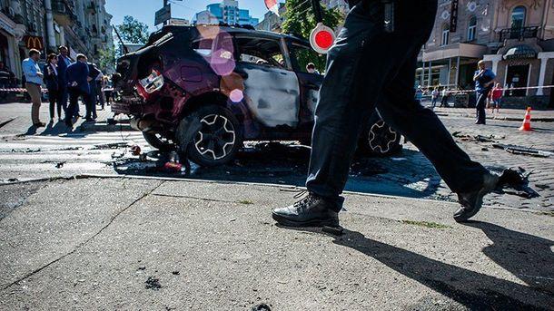 Автомобіль з Павлом Шереметом підірвали в центрі Києва