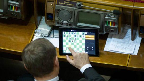 Сергій Шахов в Раді полюбляє грати в шахи