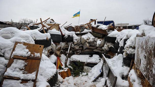 Окопы украинских военных