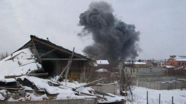 Вибух на хімзаводі у Донецьку