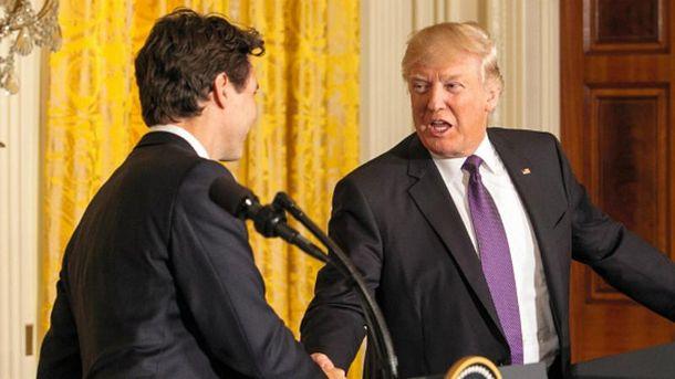 Для рукостискань Трампа знайшовся достойний суперник
