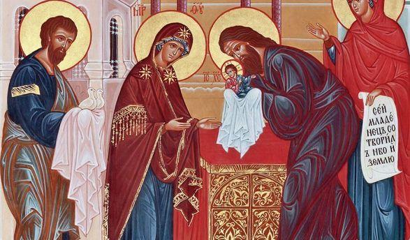 Сретение Господне празднуют сегодня православные христиане