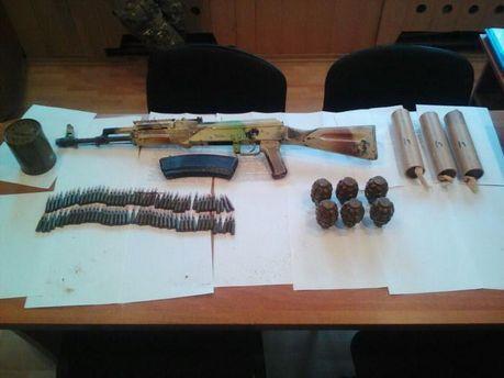 Арсенал оружия нашли в Широкино