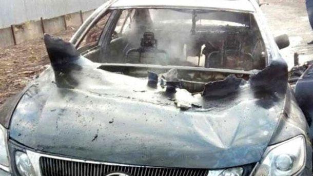 Сгоревшее авто в Одессе