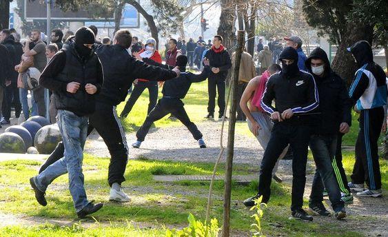 Акции протеста в Черногории