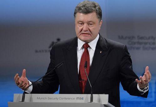 Петр Порошенко констатирует, что на Донбассе нет мира из-за Путина