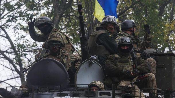 Украинские бойцы на Донбассе