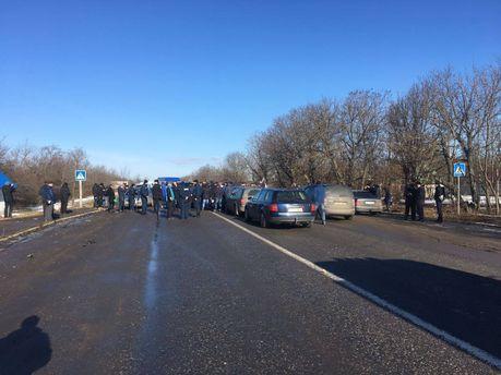 Блокування біля Ужгорода