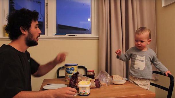 Джордан Уотсон с сыном