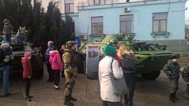 Военная выставка в Крыму