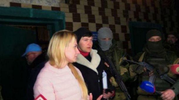 Надежда Савченко в оккупированном Донецке