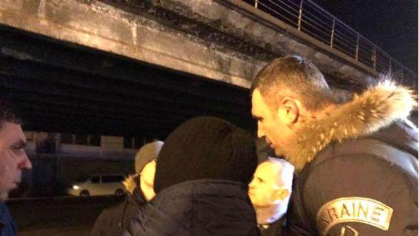 Кличко знайшов винних в обвалі  Шулявського моста