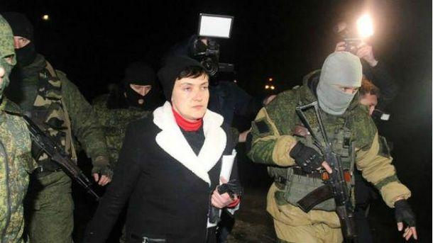 Надія Савченко в окупованому Донецьку