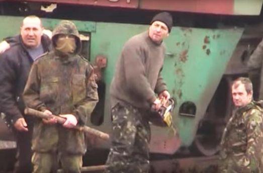 Блокировщики Донбасса во время штурма