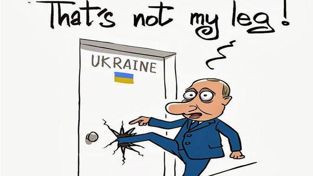 Аннексия Крыма. Карикатура