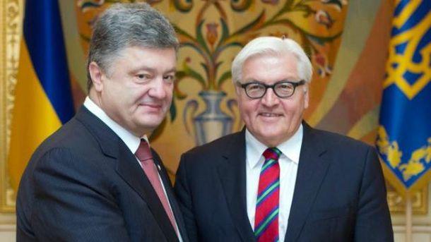 Порошенко провел разговор с новоизбранным президентом ФРГ