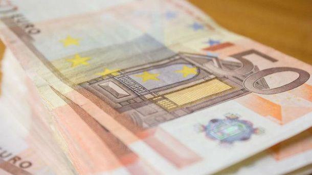 Євро подешевшало на 16 копійок