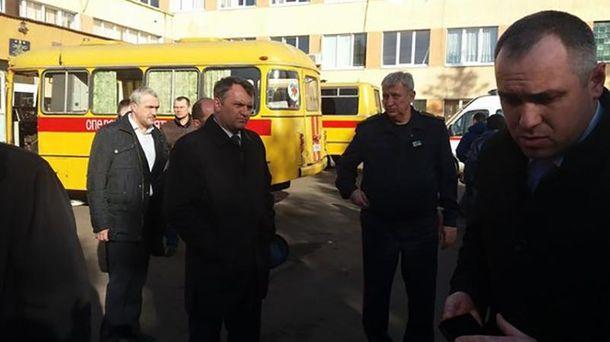 Олег Синютка на місці трагедії