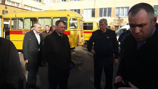Олег Синютка на месте трагедии