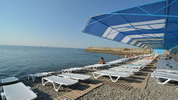 Пустые крымские пляжи