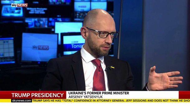 Арсений Яценюк в эфире телеканала Sky News