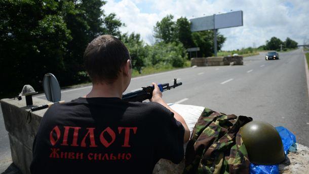 Гражданин Марьинского района всоставе батальона «Оплот» охранял телебашню вДонецке