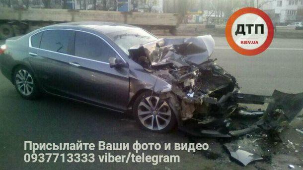 Последствия ночных гонок в Киеве