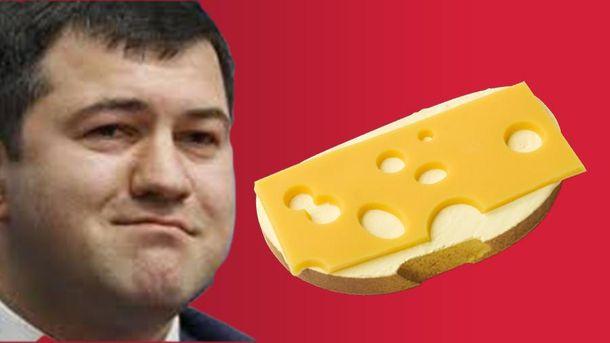 Роман Насиров и бутерброд с сыром