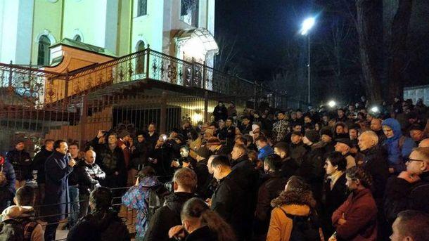 Блокировка Соломенского районного суда Киева