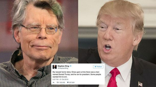 ВІйна Стівена Кінга і Трампа у Twitter