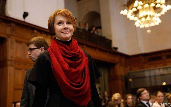 Украинская представительница в гаагском суде Елена Зеркаль