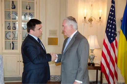 Министр иностранных дел Павел Климкин встретился с государственным секретарем США Рексом Тиллерсоном