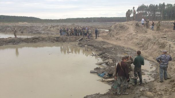 Незаконная добыча янтаря в Украине