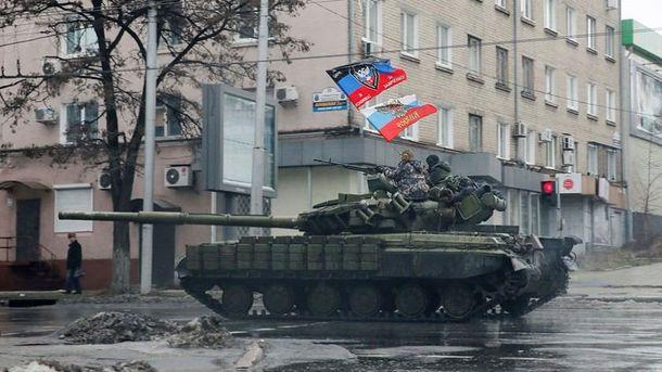 Российские танки на улицах украинских городов