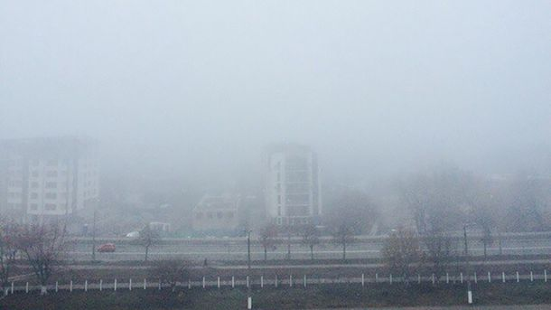 Густий смог заполонив Київ