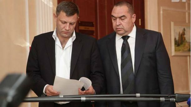 Главари террористов Захарченко и Плотницкий
