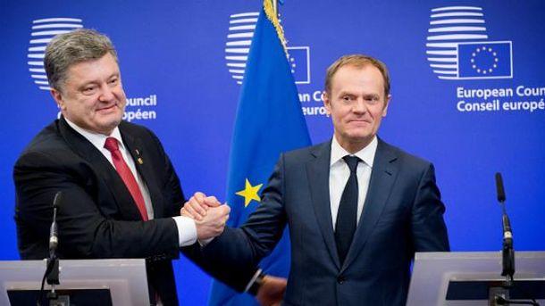 Порошенко називає Туска другом України