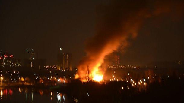 Масштабный пожар в Киеве