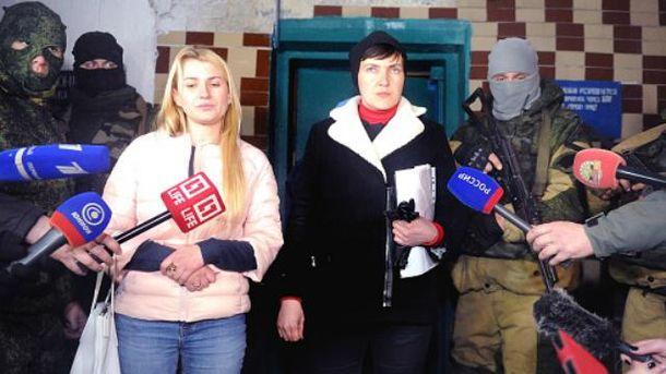В конце февраля Савченко побывала в оккупированном Донецке