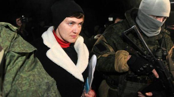 Савченко в компанії бойовиків ходила колоніями