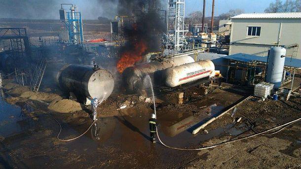 Пожар на заводе под Харьковом