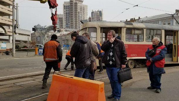 Трамваи сошли с рельсов